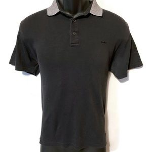 Michael Kors Men's Black/Gray Polo Shirt